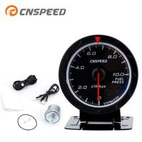 Free Shipping CNSPEED 60mm Auto Fuel Pressure Gauge Fuel Press Meter Rrd& white Light Car Meter With Oil Pressure Sensor