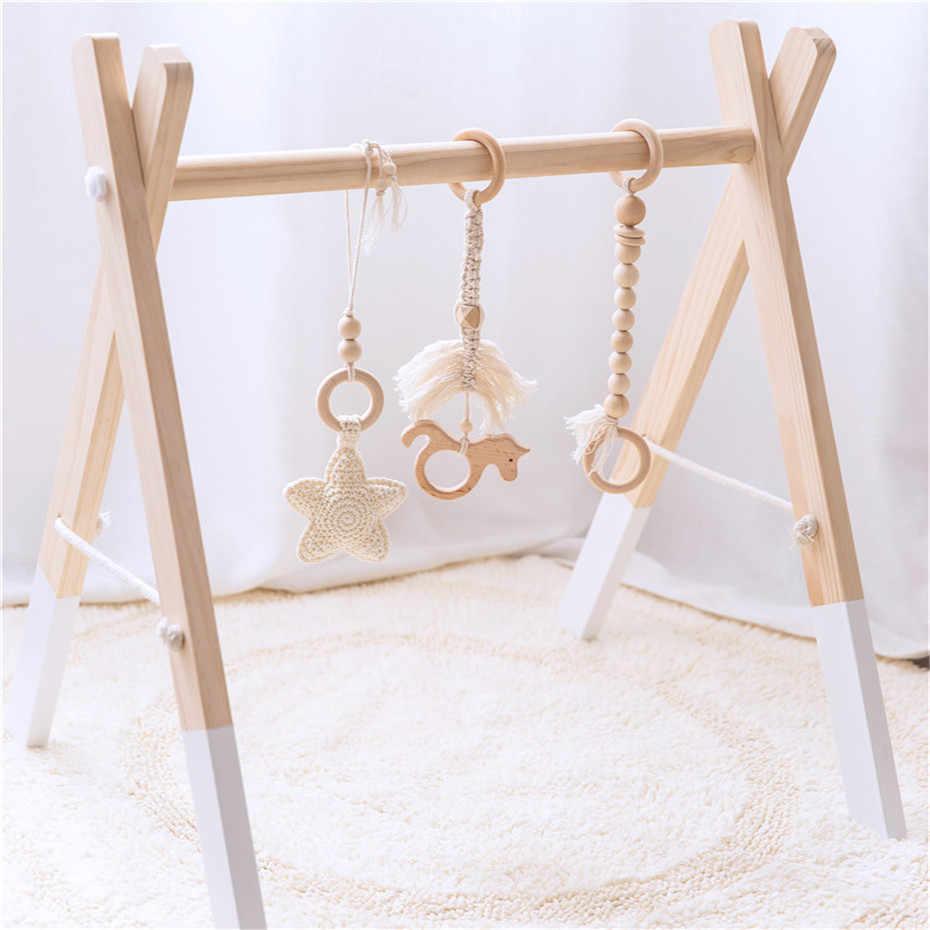 Let's Make 3 шт. Единорог крючком Звезда деревянный Прорезыватель мобиль для детской кроватки амигуруми Погремушка Игровой, для тренировок игрушки Детская коляска аксессуары