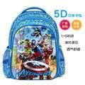 Alumno 5D dibujos animados vengadores alianza hombros mochila bolsa de niño 1-6 niños de grado durante el paquete niñas niños bolsa de la escuela