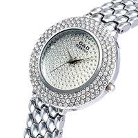 XG67 G D GLE VDO Luxury Womens Quartz Watches Silver Womem S Bracelet Watches Rhinestone Ladies