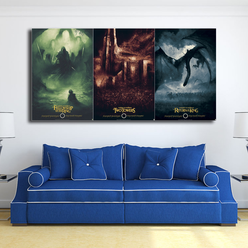 Poster Lotr Artwork Canvas Painting