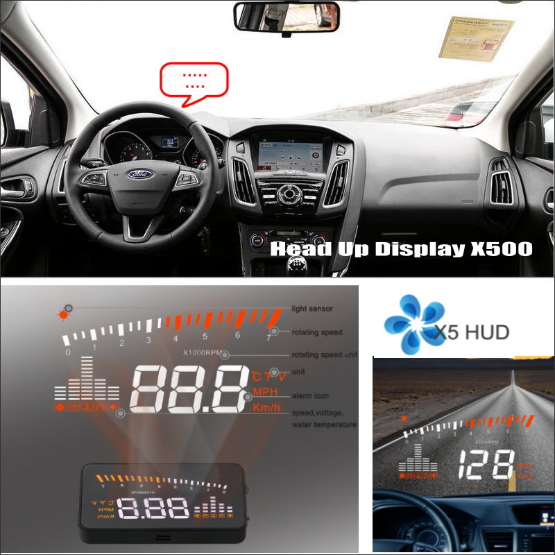 Car Computer Screen Display Projector Refkecting Windshield For Ford Focus Ranger Edge Mondeo - Safe Driving