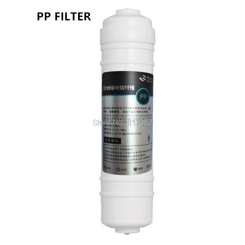 10 Pulgadas Conexión Rápida De Polipropileno De Sedimentos Cartucho De Filtro De Agua Filtro Pp Para Sistema De Osmosis Inversa Con 2 Piezas De Conectores Para Garantizar Una TransmisióN Suave