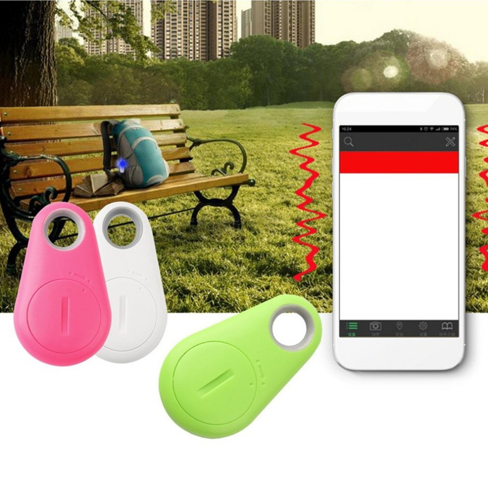 Mini Bluetooth 4.0 GPS Traker Waterdrop Locator Portable Anti-lost Key Finder Pet Tracker Two Way Alarm Anti-Theft Device Dropsh
