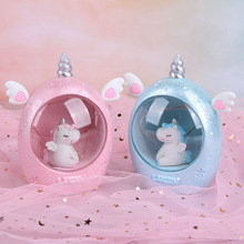 Cartoon Animals LED Night Light Resin Unicorn Lamps Bedroom  Decor Lamps Baby Night Lamp Toy Christmas  Birthday Gift Children children toy pendant lights kids room to absorb dome light lamps and lanterns cartoon children bedroom light plane led lamps za