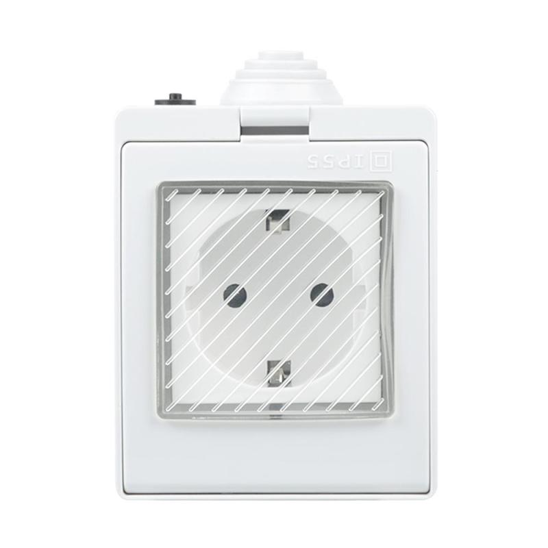 Smart Power Socket WiFi Waterproof EU Plug Outlet APP Work With Amazon Alexa Google Home Remote Control Timer Socket Outdoor