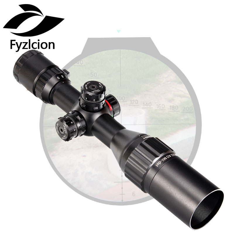 3-9x32 AO Tactical Rifle Scope Compact 1/2 Half Mil Dot Reticle Riflescopes Turrets Locking with Sun Shade leapers utg 3 9x32 aolmq compact mil dot reticle hunting optics riflescopes locking w sun shade