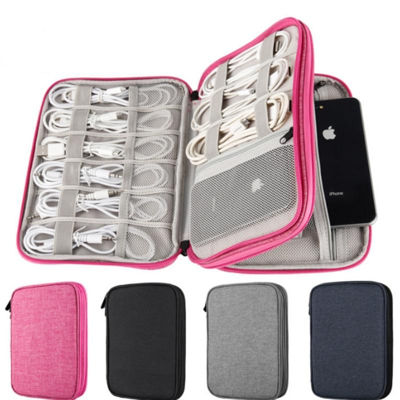 Travel Data Cable Organizer Bag Multifunction Electronics Digital Gadgets Earphone Wire Bag