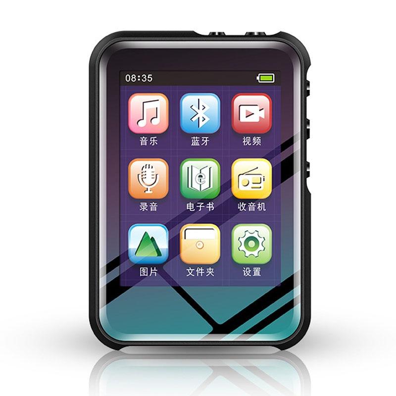 Mini ABS Mp3 Player Built-In 8G Bluetooth Hifi With Speaker Full Press Screen Fm Radio Usb Flac Audio Running Walkman Sport