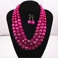 Африка комплект ювелирных изделий 2015 новая мода женщины себе ожерелья Multicolors акриловые воротник chokers ожерелья NK168