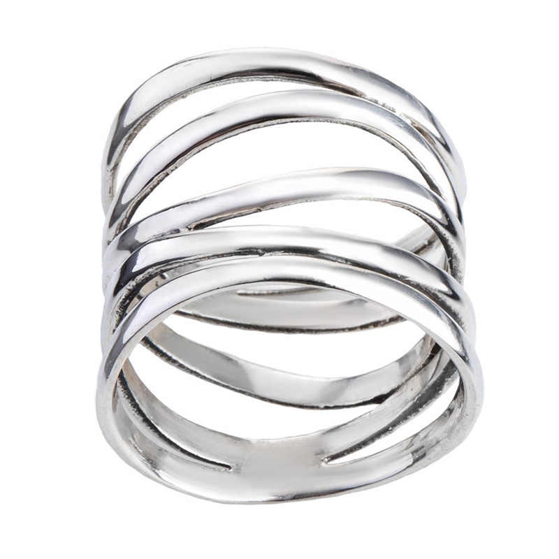 Fashion Classic Creative Multi-layer  Ring Winding Ring Women's Stainless Steel Rolling Wedding Party Rings