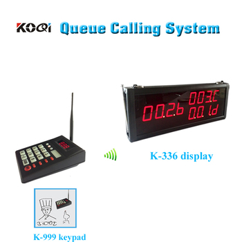( 3 Display+1 Keypad)Pager Queue Calling System Calling Waiter CE Passed For Fast Food Restaurant Service