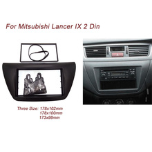 Ct-białe carid pokój 2 din radio samochodowe konsola do 2006 mitsubishi lancer ix odtwarzacz dvd tapicerka zestaw instalacyjny plate rama