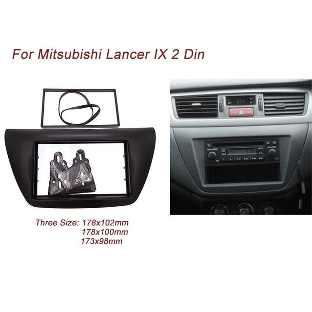 Ct-carid doble 2 din coche reproductor de dvd de radio fascia para 2006 mitsubishi lancer ix placa recorte kit de instalación marco