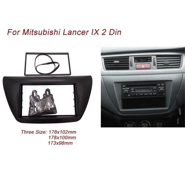 Ct-carid duplo 2 din car radio fascia para 2006 mitsubishi lancer ix dvd player guarnição kit de instalação da placa quadro