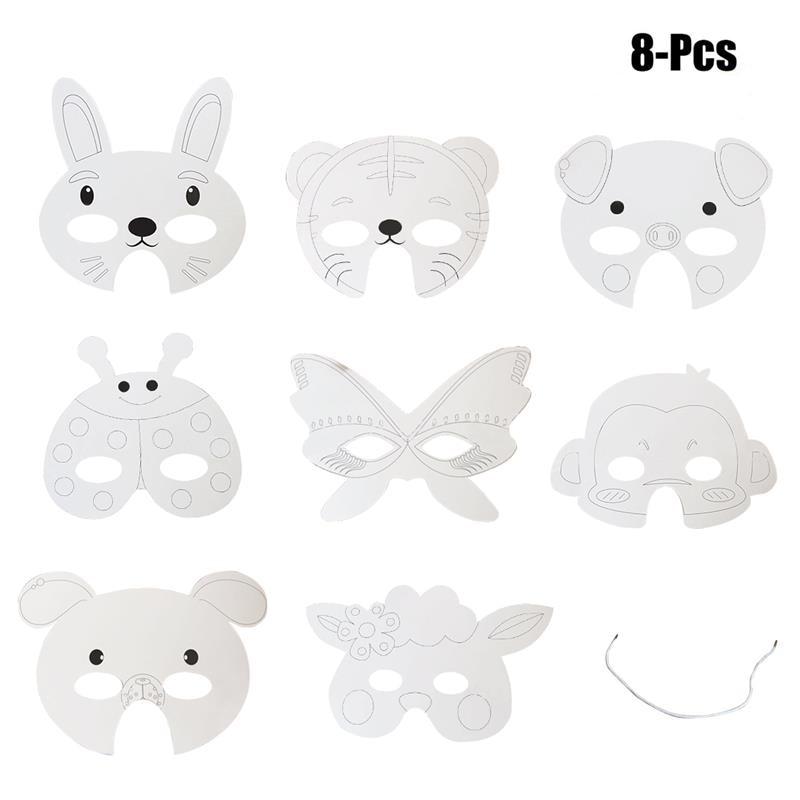Ev Ve Bahce Ten Parti Maskleri De Funpa 8 Adet Parti Maskesi