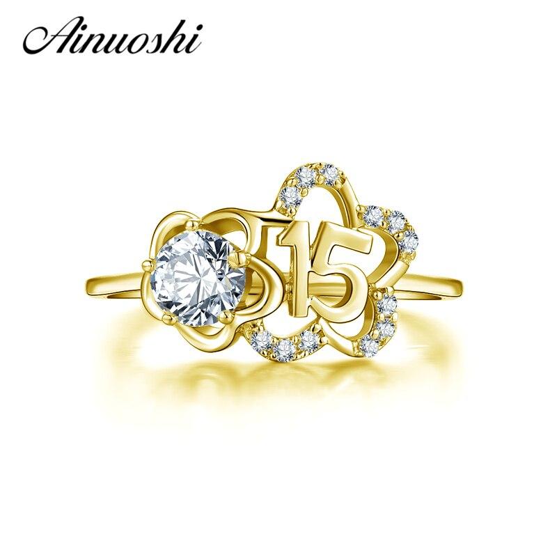 Женское кольцо AINUOSHI, розовое золото 14 к, искусственный бриллиант, модные дизайнерские свадебные кольца на годовщину
