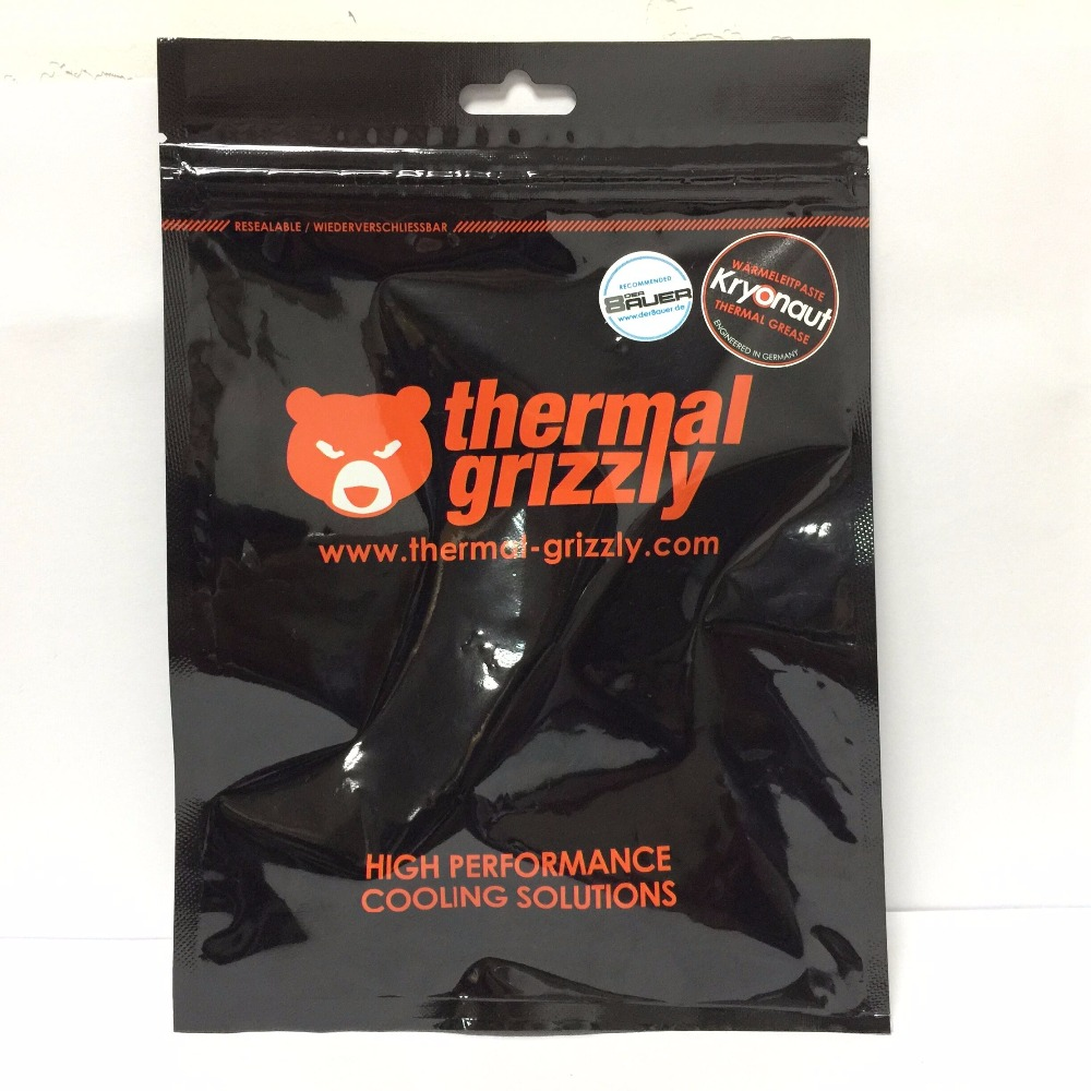 Thermal Grizzly Kryonaut 11.1G PC CPU AMD Intel processor Heatsink fan Thermal compound Cooling Cooler Thermal Grease /paste 73w mk grizzly bear liquid metal for thermal grizzly conductonaut 1g diy silicon grease for cpu gpu graphics card easy to cool