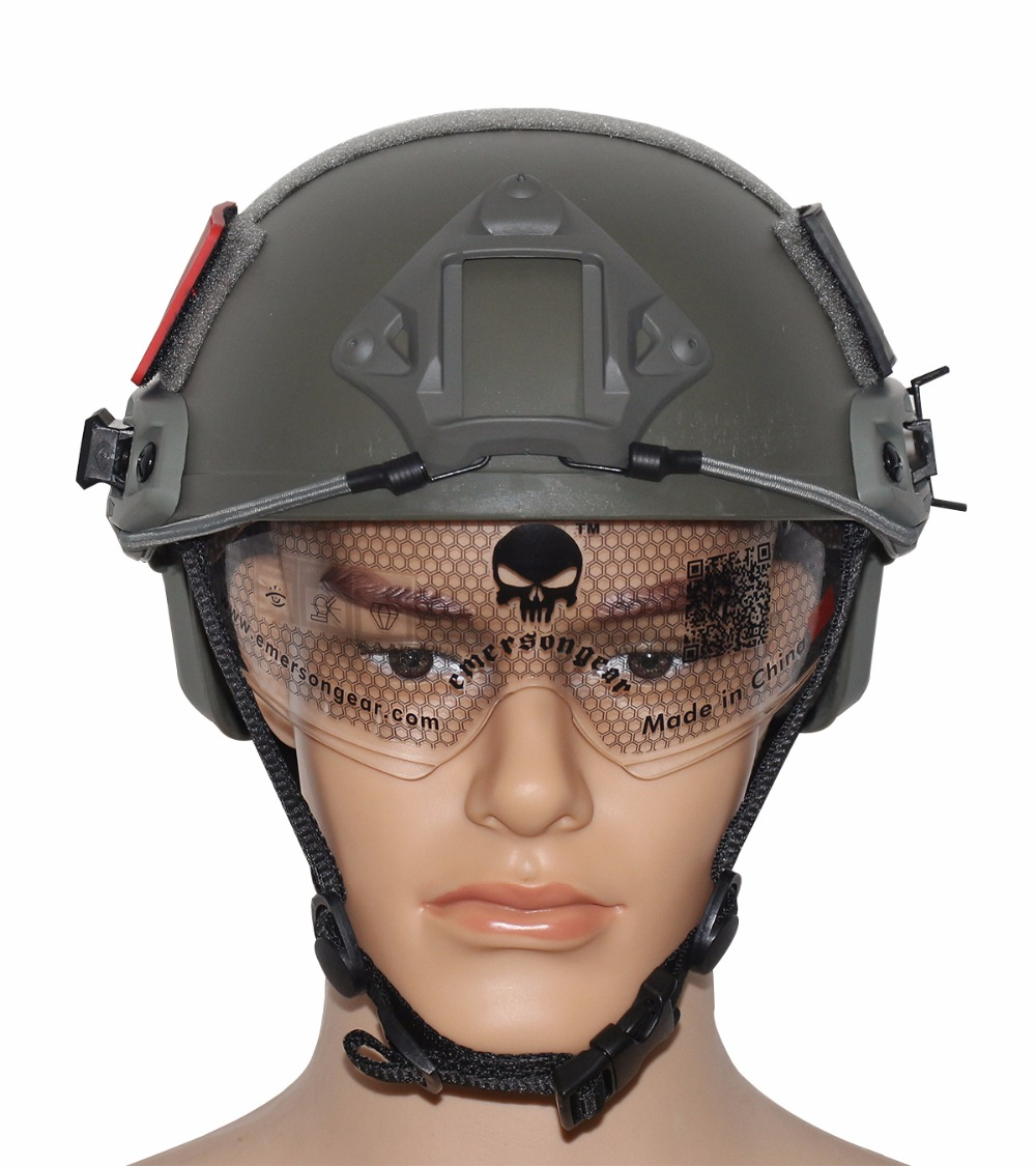 VILEAD 5 colors JF MH FAST Helmet Version With Protective Goggles Military Tactical Airsoft MH Helmet Outdoor Game Activities
