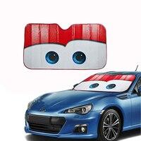 חלון שקפים קריקטורה Larath עין צל שמש שמשייה רכב שמשות כיסוי שמשה קדמית מחוממת פיקסאר אוטומטי מגן שמש לרכב-מכסה