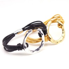 D&D New Design Multi-layers Handmade Braided Genuine Leather Bracelet & Bangle For Women Fashion Bangles Gifts