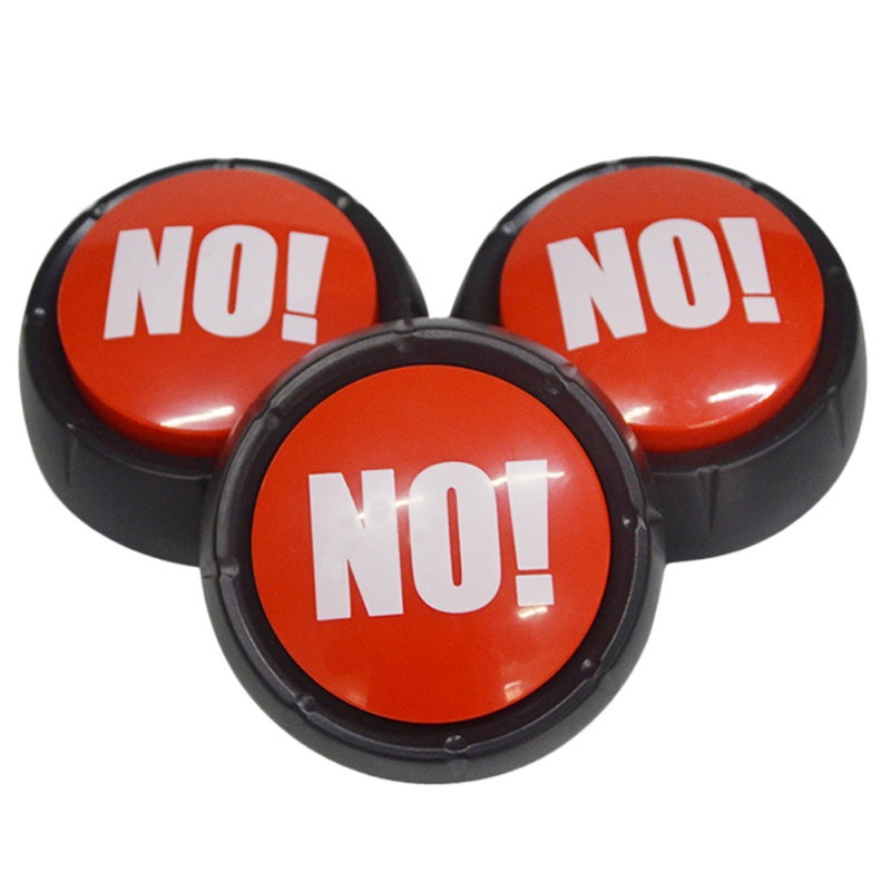 NO !No Squeeze Sound Toys Button Music Box Novelty Gag Toy Event Party Game Supplies Hot Decoration Gift