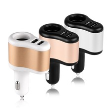 12V 1A & 2.1A Universal 2 Ports Dual USB One Way Car Cigarette Lighter Power Socket Charger