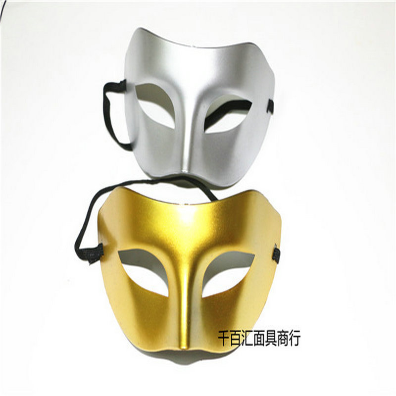 Mask Men Pingtou Zorro Half Face Men and Women\`s Dance Show Eyeshade Gold and Silver Jazz Halloween mask (1)