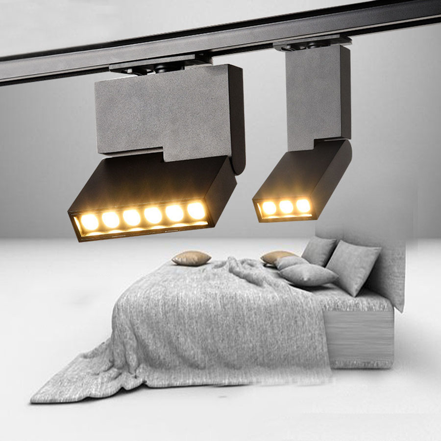 Humble Thrisdar Personality Creative Led Track Light 6w 12w Nordic Led Spotlight Clothing Store Bar Exibition Rail Track Spotlight Lamp As Effectively As A Fairy Does