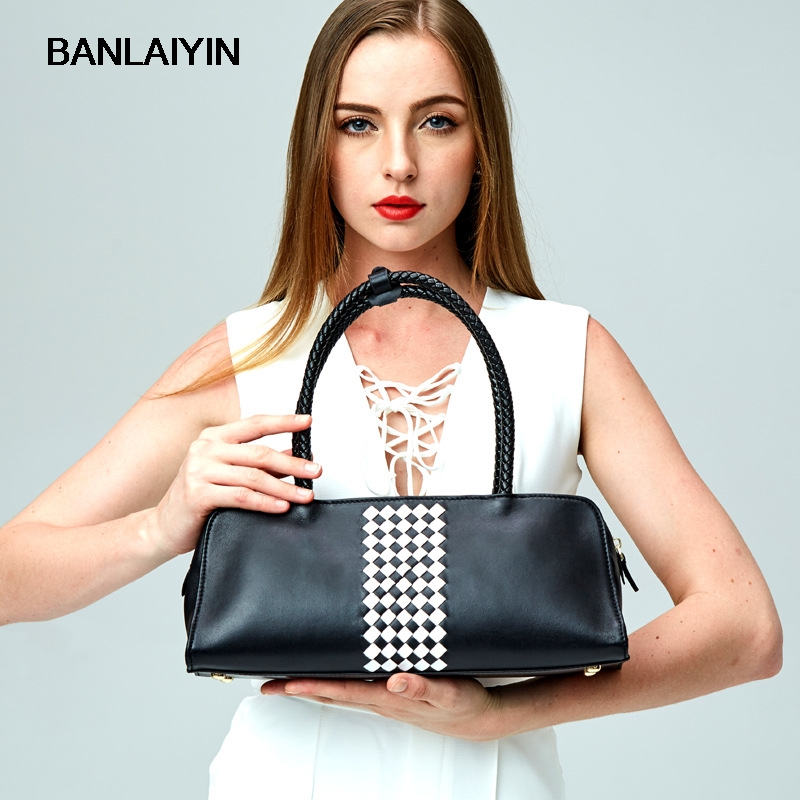 купить Brand Women Genuine Leather Bags Lady Real Leather Handbags Large Shoulder Bags Designer Vintage Cowhide Bag по цене 3592.52 рублей