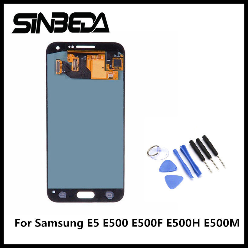Sinbeda OLED Pantalla For Samsung Glaxy E5 E500 E500F E500H E500M LCD Display Touch Screen Digitizer