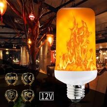 2pcs/lot E26 Led Light Bulb Dynamic Flame Effect E27 Candle 12V E14 Lamp Flickering Burning Garden Decoration