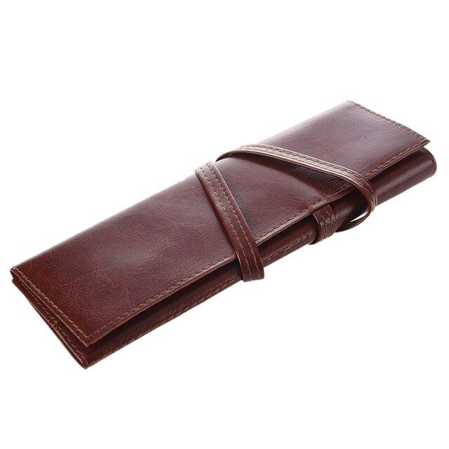 1 pc Case PU Leather Pen Pencil Case Pencil Bag Cosmetic Brush Bag 1