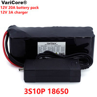 VariCore 12 V 20000mAh 18650 lithium battery miner's lamp Discharge 20A 240W xenon lamp Battery pack with PCB + 12.6V 3A Charger