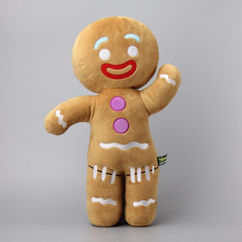 Large Size 48 CM Shrek Gingerbread Man Bigheadz Stuffed Plush Toys Soft Cushion Pillow Dolls Kids Gift