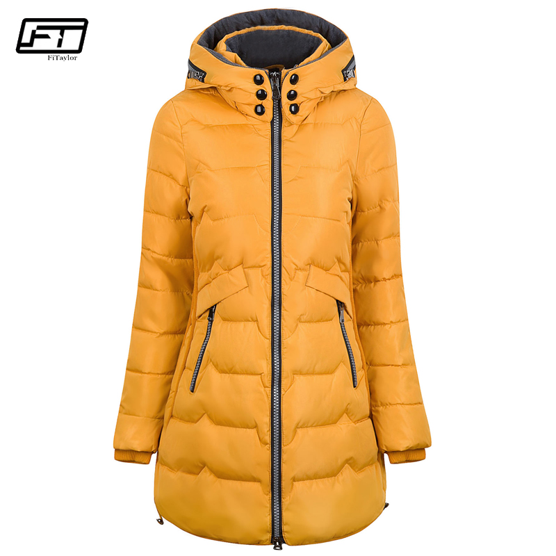 Fitaylor 2018 Plus Size 6xl 7xl Cotton Coat Long Winter Jacket   Parka   Women Thick Slim Long Warm Hooded Padded   Parkas   Female