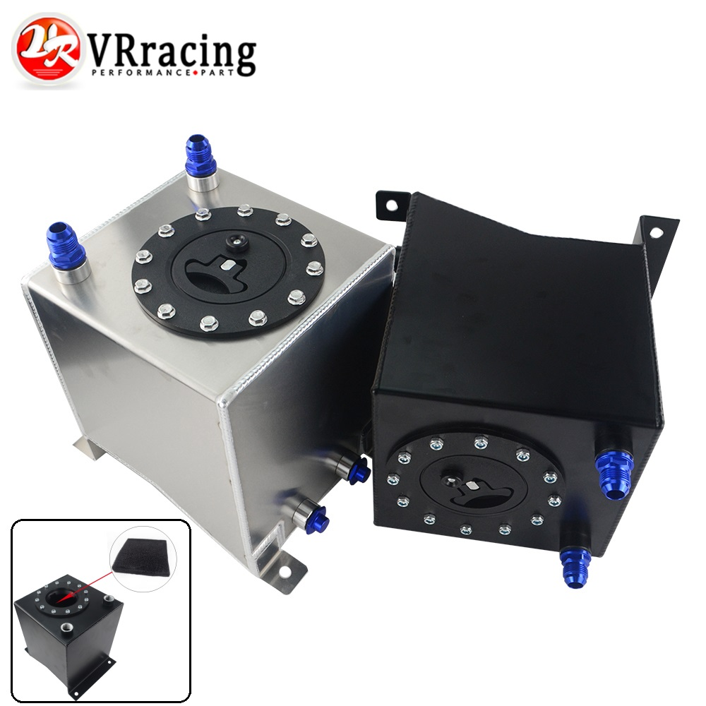 VR RACING 2 5 Gallon 10L Aluminum Race Drift Fuel Cell Tank Fuel Surge Tank Without