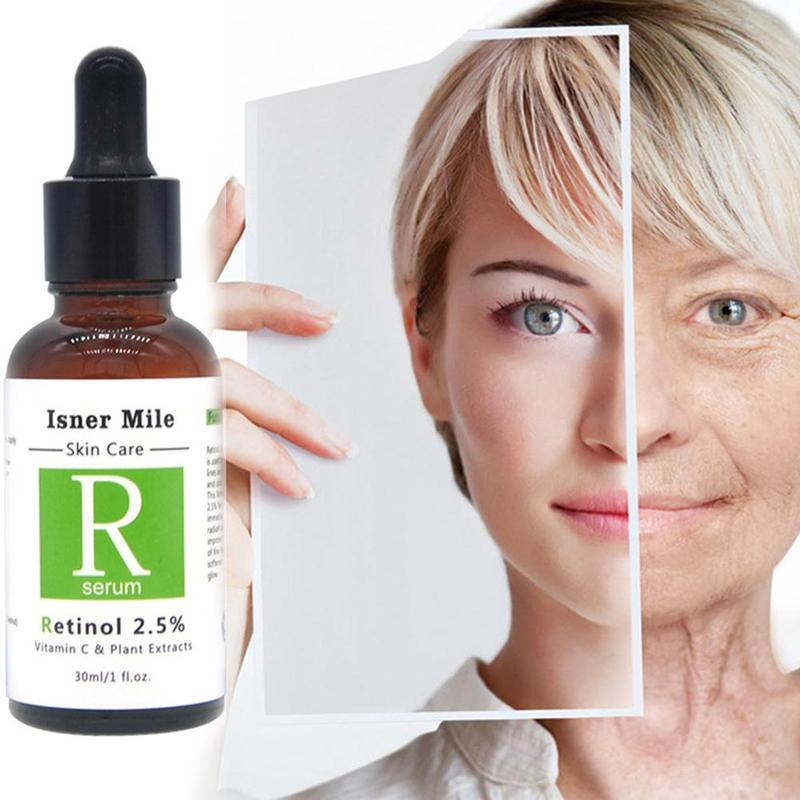 цена 30ml Retinol 2.5% Serum Firming Repair Skin Face Facial Serum Vitamin C Anti Wrinkle Anti Acne Anti Aging Lifting Skin Care