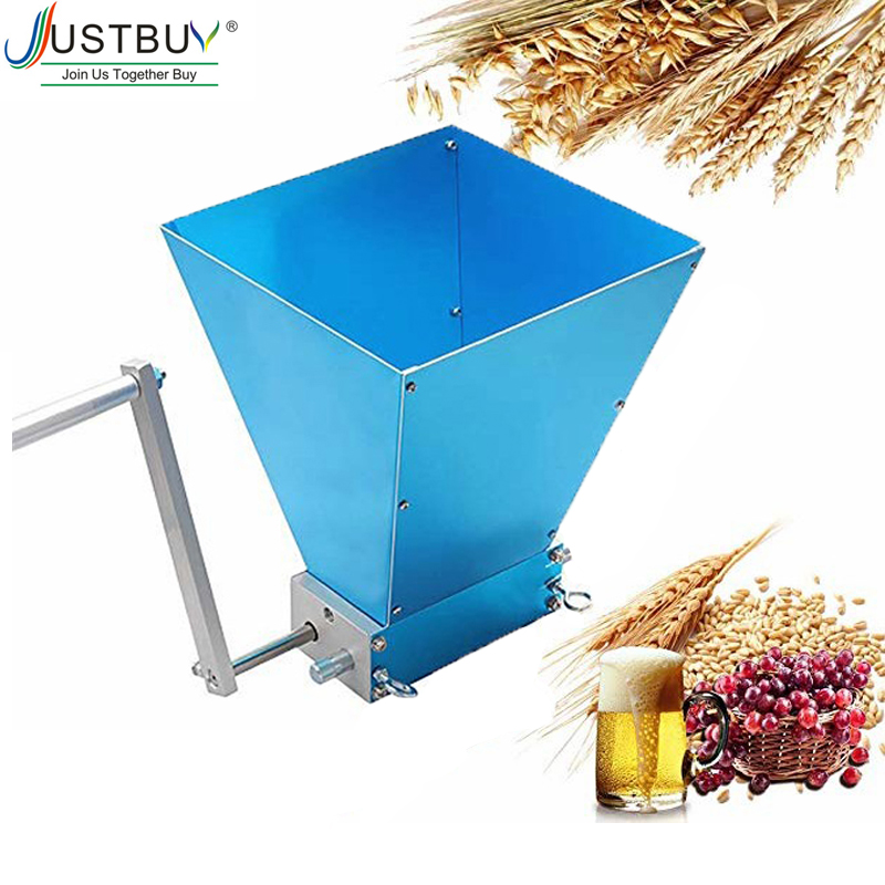 2019 Newest Stainless 2-roller Barley Malt Mill Grain Grinder Crusher Mills With Strong Adjustable Grinder