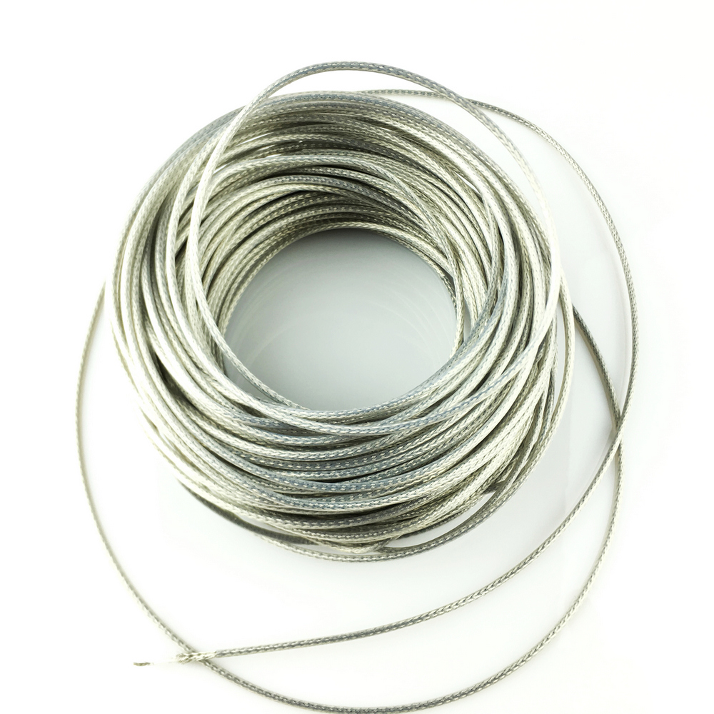 PTFE Oxygen Free Copper Silvering Braided Shielded Wire For Electric Guitar Bass Per Meter ( #0056 ) MADE IN KOREA