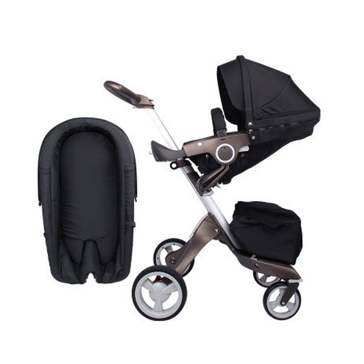 15kg aluminum alloy 75cm high landscape stroller off-the-scenes 2 in 1 stroller luxury folding two-way shock children's trolley