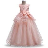 New Style Summer 5 14 Years Children Sweet Dress Girls Applique Princess Dresses Girl High Grade