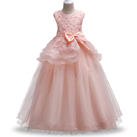 New Style Summer 5 14 Years Children Sweet Dress Girls Applique Princess Dresses Girl High Grade