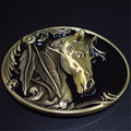 belt buckle 9cm bronze horse head black pattern metal pin buckles fashion trousers / pants Diy belts free shipping