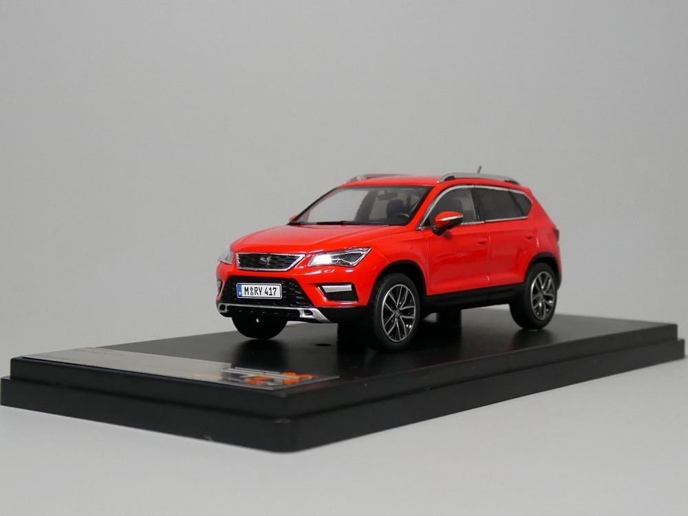 PREMIUMX 1:43 SEAT Ateca 2016 SUV boutique model car toys for children kids toys Model gift original box