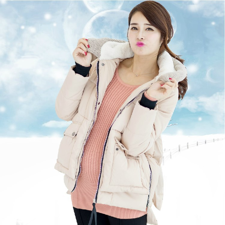 ФОТО manufacturers selling maternity coat maternity winter fashion han edition thickening pregnant women quilted jacket