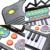 25 Teclas do Teclado electone Mini Eletrônico electone Brinquedo Musical com a História Das Crianças Educacional Piano de Brinquedo para Crianças Do Bebê Dos Miúdos