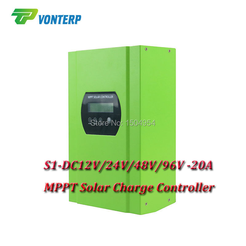 96V 20A Solar Off-grid System MPPT Solar Charger Controller Solar Regulator MPPT Solar charge Controller 100w 12v solar panel module 20a cmg controller 1000w off grid for car traile solar generators