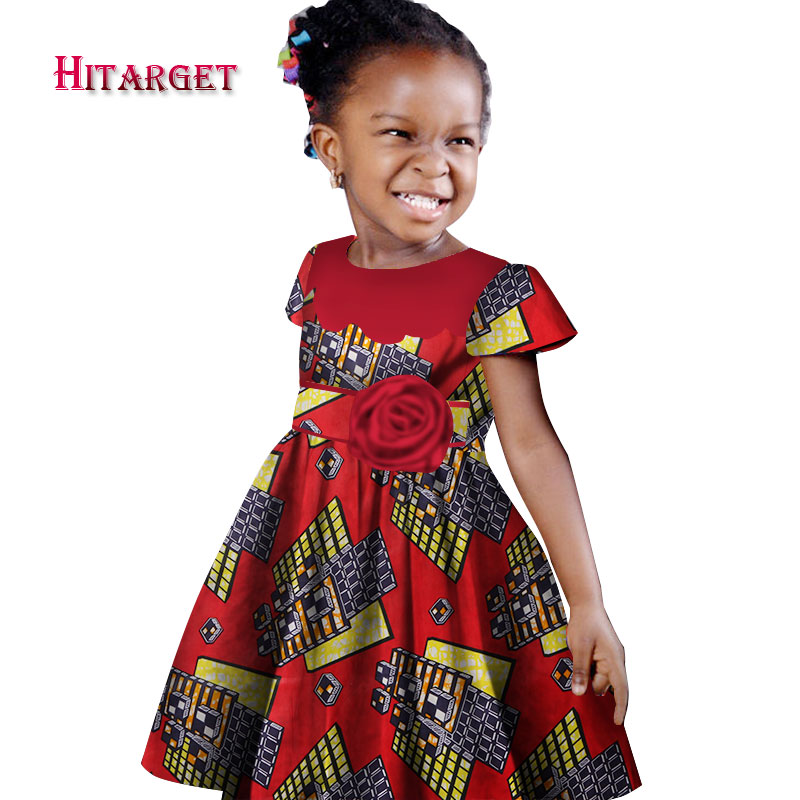 African girl dress kids dashiki Traditional cotton short ...