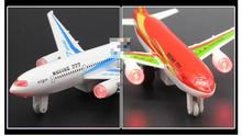 Diecast Airbus Metal Airplane Lighted Alloy Model Dinky Toys For Children Sound Bus Toy Kids Toys Plane Brinquedos